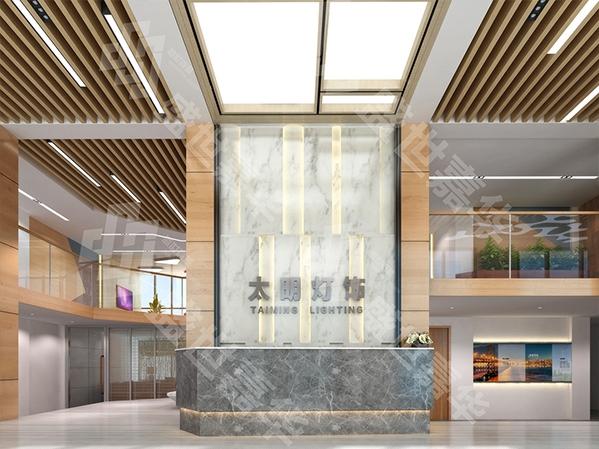 烟台太明灯饰办公楼-装饰工程